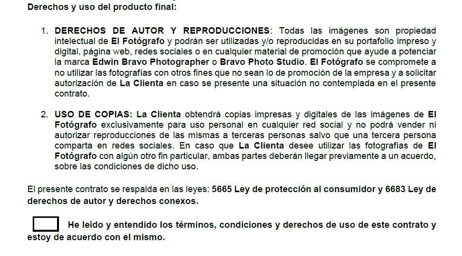 Derechos de autor en el contrato fotográfico