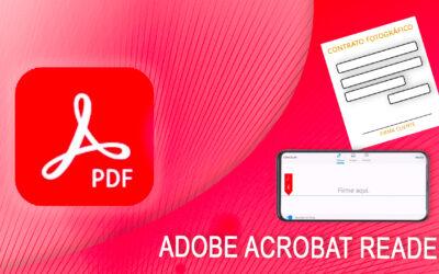 Llenar, firmar y enviar contrato fotográfico con el celular y Adobe Acrobat Reader